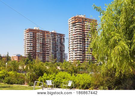 High-class Neighborhood In Santiago, Chile