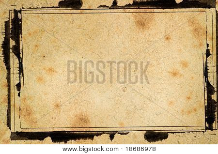 Computer designed highly detailed grunge  border and aged textured background with space for your text or image