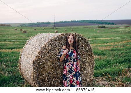Girl In A Dress In Summer Stacks