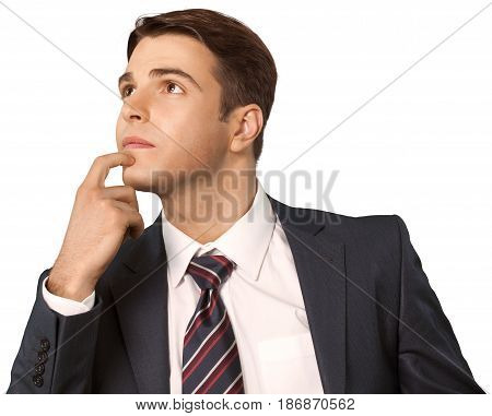 Man businessman office worker manager thinking pensive male