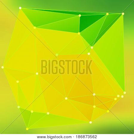 Modern Abstract Background Triangles 3D Effect Glowing Light97
