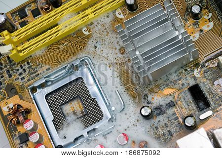 To cleaning Mother board with shampoo and water