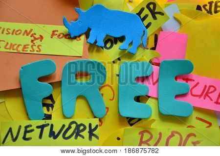 word free on a  abstract colrful background