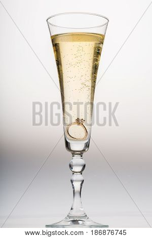 Champagne flute champagne champagne glass glass engagement ring ring proposal