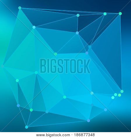 Modern Abstract Background Triangles 3D Effect Glowing Light100