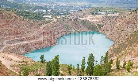Open pit mine in Balaklava near Sevastopol city