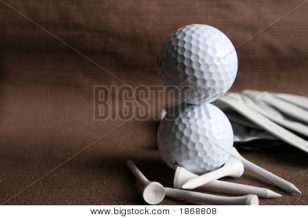 Two Golf Balls Stacked