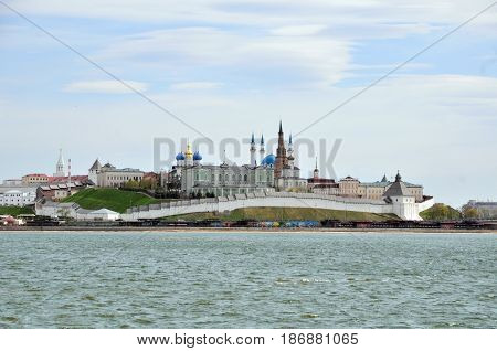 Kazan, Tatarstan, Russia - May 16, 2017. View of the Kazan Kremlin.