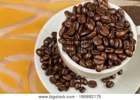 Cup coffee bean coffee cup hot drink mug table caffeine