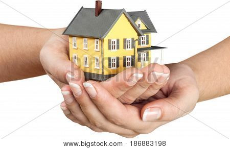 Insurance concept real estate house model home insurance household insurance building insurance