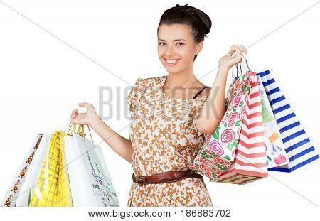 Female woman friendly shopping shopping bags shopper clothes shopping