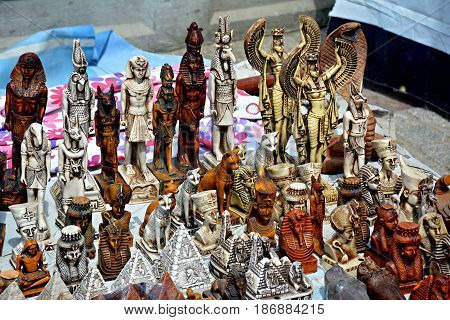 Replica statues  Pharaonic statues Sale on the beach Statues  Sea  Fortified fortress