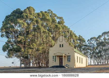 RIEBEECK WEST SOUTH AFRICA - APRIL 2 2017: Hall of the Dutch Reformed Church in Hermon a village in the Swartland area of the Western Cape Province
