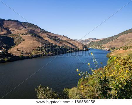 River Douro in Vale do Douro Portugal