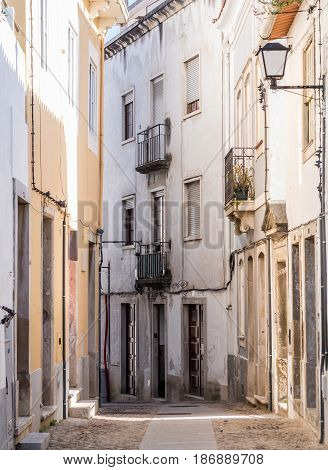 One of the streets in the old town of Coimbra in Portugal.