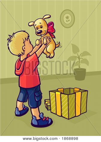 Boy&Puppy.Eps