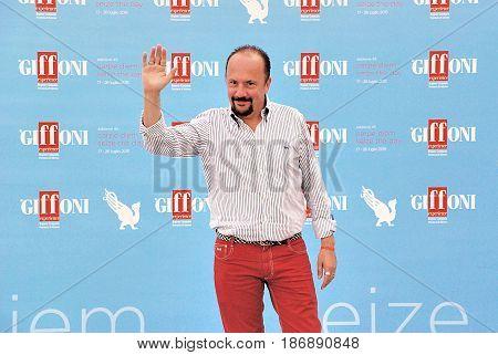 Giffoni Valle Piana Sa Italy - July 21 2015 : Maurizio Casagrande at Giffoni Film Festival 2015 - on July 21 2015 in Giffoni Valle Piana Italy
