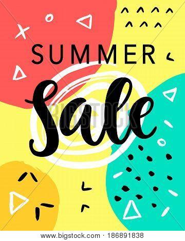 Summer Sale Banner Template Background. Vector Illustration