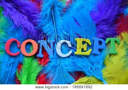 word concert  on a  abstract  colorful background
