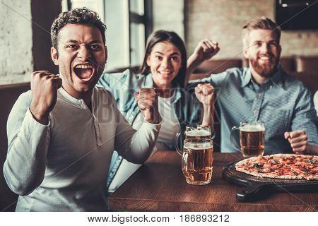 Fans At Pub