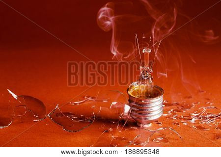 Household bulb incandescent bulb energy innovation burned broken bulb
