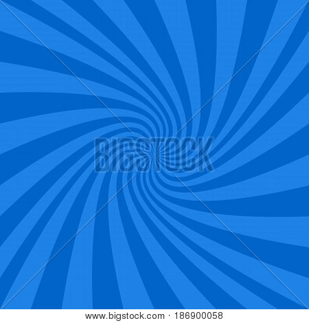 Blue abstract spiral design background - vector graphics