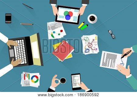 Business concept of planning, consulting, creativity. Vector