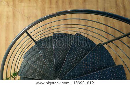 Detail Od Metal Round Stairs