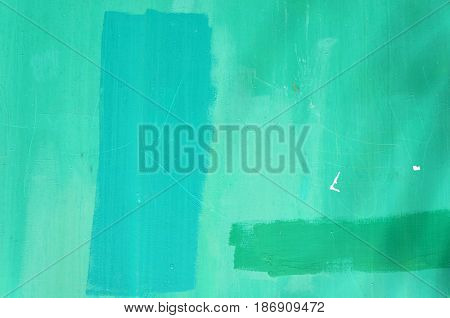 Turquoise and green wall texture. Abstract background.
