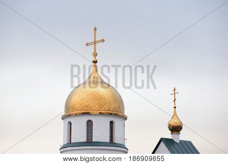 Dome of Holy Trinity Cathedral in Kolpino on the outskirts of St. Petersburg Russia.