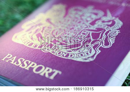 Stock photo of Generic British Passport for illustration only