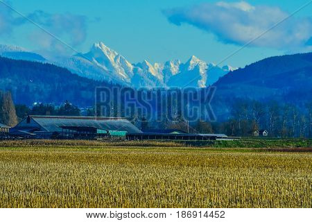 North Cascade Mountains from Upper Skagit Valley, Washington State