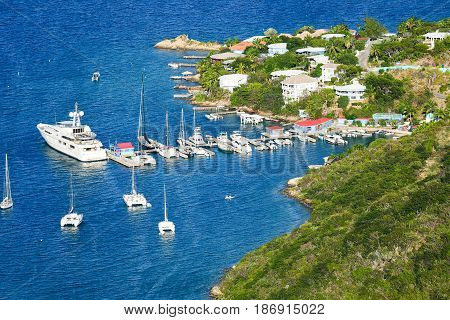 Caribbean Harbor on Jost Van Dyke, BVI