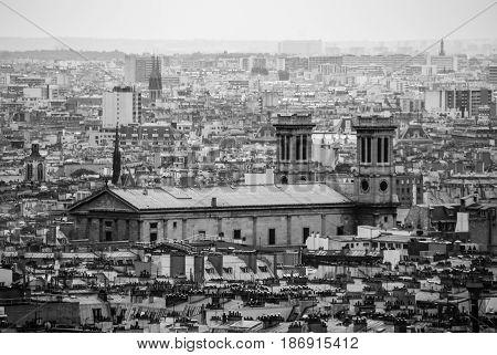 Notre Dame de Paris cathedrale church religion black and white