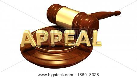 Appeal Law Concept 3D Illustration