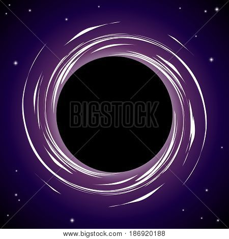 Black hole Stars Event horizon abstract background. Vector Illustration.