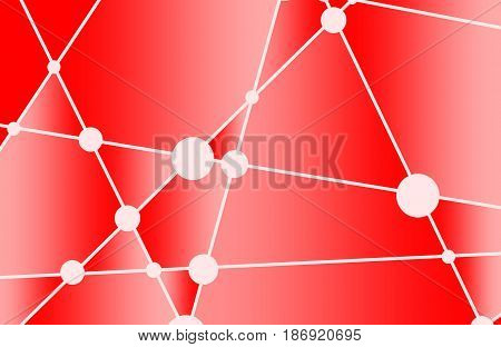 Design brochures with polygonal colorful background. Red gradient. Vector illustration.