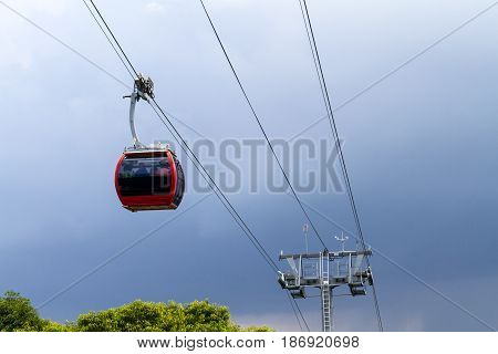 Hat Yai Cable Car Is The First Cable Car In Thailand.