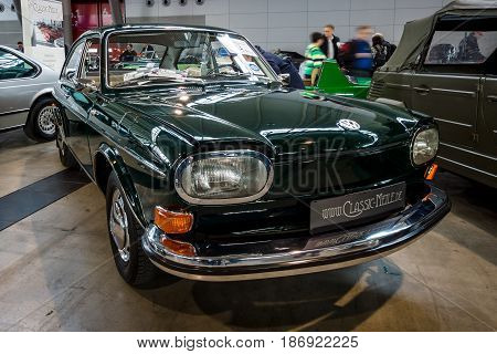 STUTTGART GERMANY - MARCH 03 2017: Large family car Volkswagen Type 4 (411L) 1969. Europe's greatest classic car exhibition