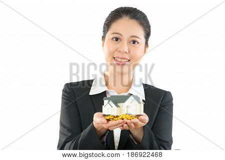 Apply For Loan With Smiling Bank Lady