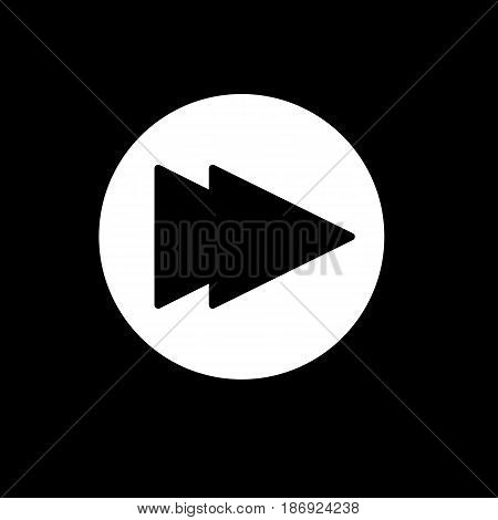 fast forward icon illustration isolated vector sign symbol. Rewind button isolated on black. eps 10
