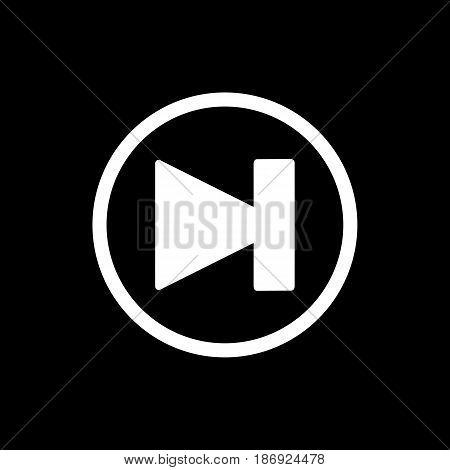 Next track icon vector. Simple vector symbol, audio concept. eps 10