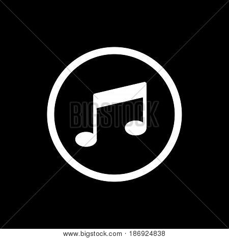 Vector music Icon. Isolated on black background. eps 10