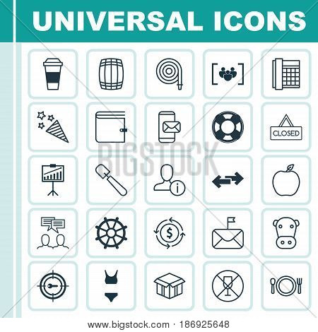 Set Of 25 Universal Editable Icons. Can Be Used For Web, Mobile And App Design. Includes Elements Such As Firecracker, Keyword Marketing, Cask And More.