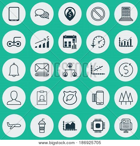 Set Of 25 Universal Editable Icons. Can Be Used For Web, Mobile And App Design. Includes Elements Such As Web Profile, Edit Mail, Cellphone And More.