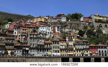 Porto, Portugal. Beautiful view of the old European city.