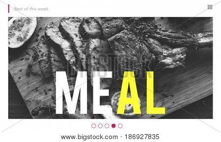 Food Words Steak Appetite Meal
