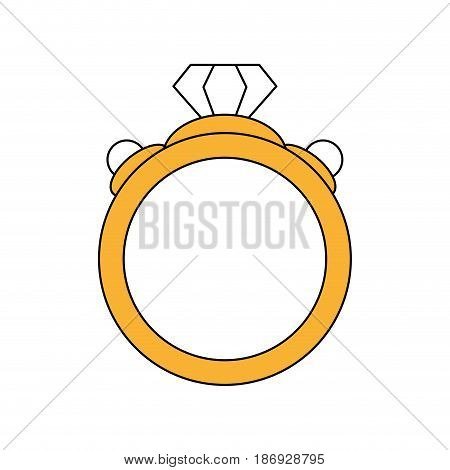 color silhouette image diamond engagement ring vector illustration