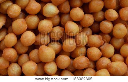 Food Background Of Salty Chickpea. Snacks. Junk Food For Beer Or Cola. Photographed With Natural Lig