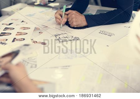 Startup Business People Working Checking Newspaper Information